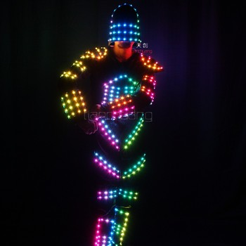 Dance Costumes Hot Ing Boys Bollywood Lights Led Robot Tron Costume Light Product On