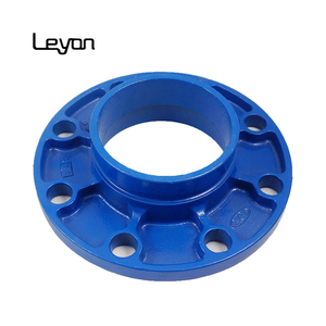 DN50 2 inch OD60mm flange adaptor ductile iron pipe fitting red or blue epoxy painting flanges DI pipe fittings