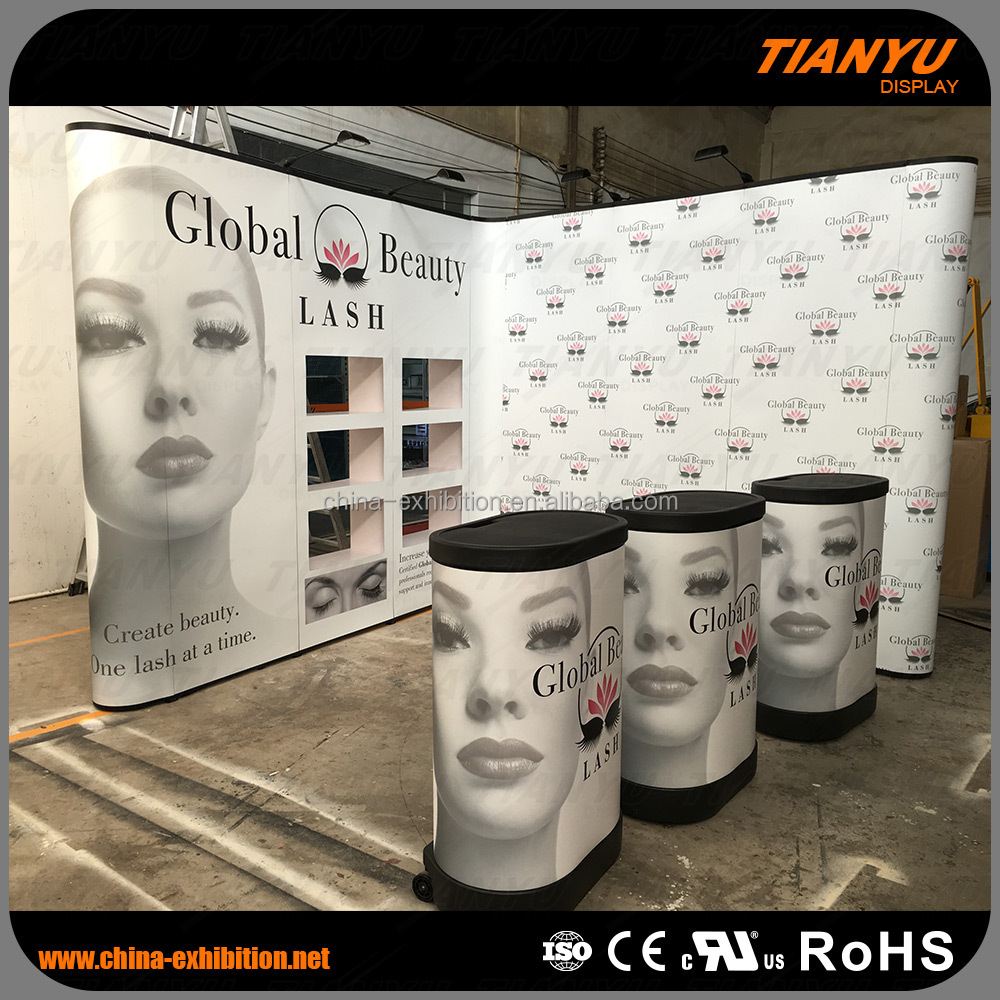 recyclable exhibition pop up display stand