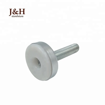 Round Plastic Base Rod Leveling Support Feet Metal Furniture