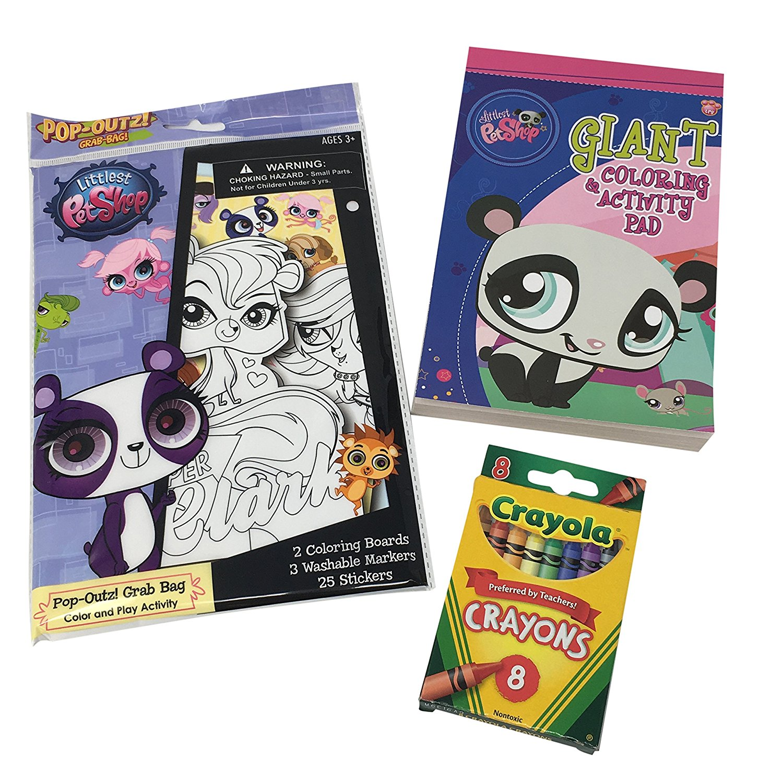 Buy Littlest Pet Shop Activity Bundle  Giant Coloring and Activity ... 835ffce002ecb