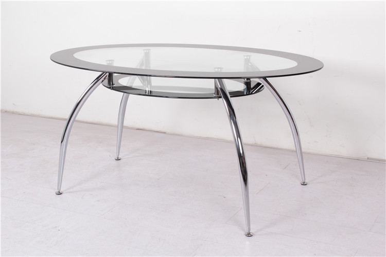 Mesas de comedor de cristal ovaladas casa dise o for Mesas de comedor de vidrio y metal