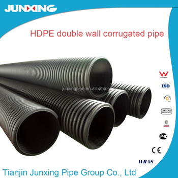 Double Wall Corrugated Hdpe Pipe Plastic Pipe Drain Tube