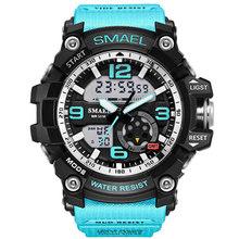Бренд 3013 светодиодный цифровые женские военные часы мужские спортивные часы G стиль для плавания и альпинизма модные уличные повседневные ...(Китай)