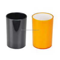 Colored plastic tumbler hotel bathroom accessories set
