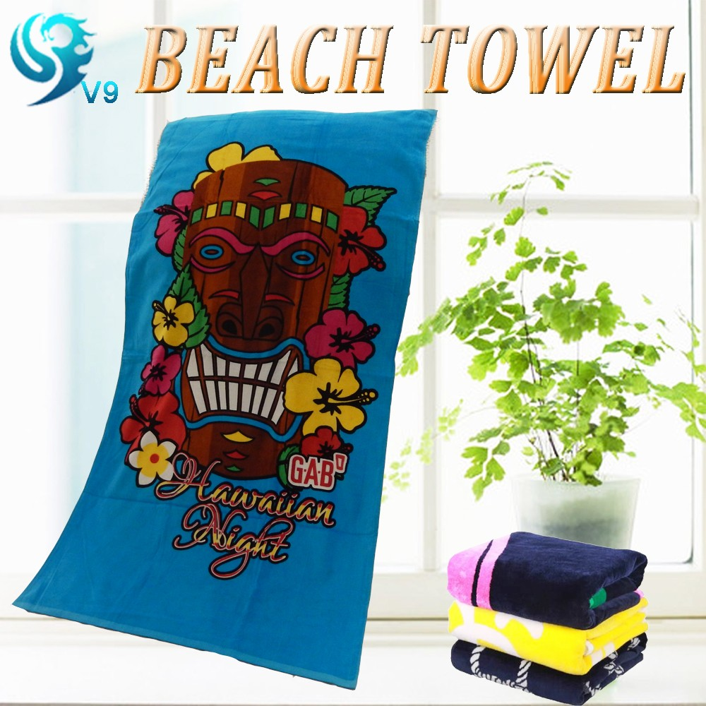 Advertising company logo printed promotion beach towel, 50pcs reactive printed custom beach towel