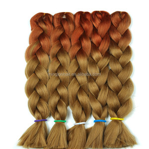 synthetic hair extension expression hair synthetic jumbo braiding hair 24 inch 100g