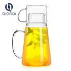 New design cool glass water kettle with glass cup lid