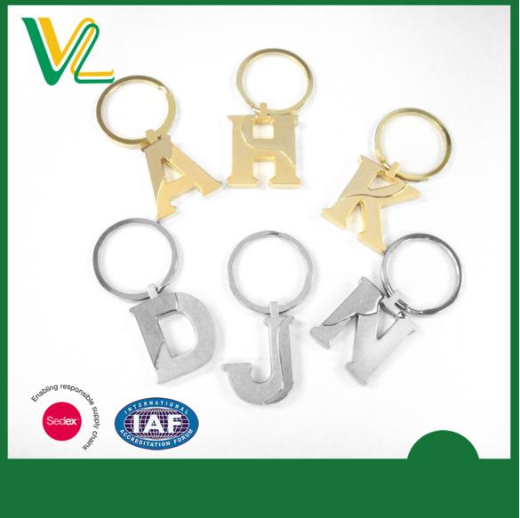 Custom Metal Letter Key Chain A H D J K N Keychains