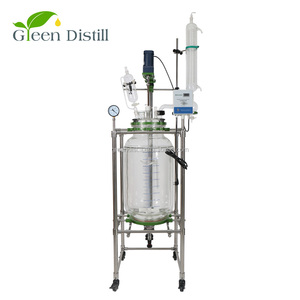 100l fixed bed bio column glass reactors with high quality