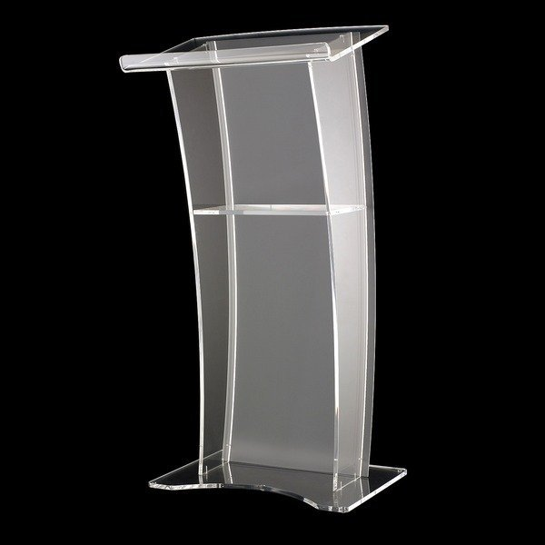 Free Shipping Clear Modern Design Acrylic Podium Church