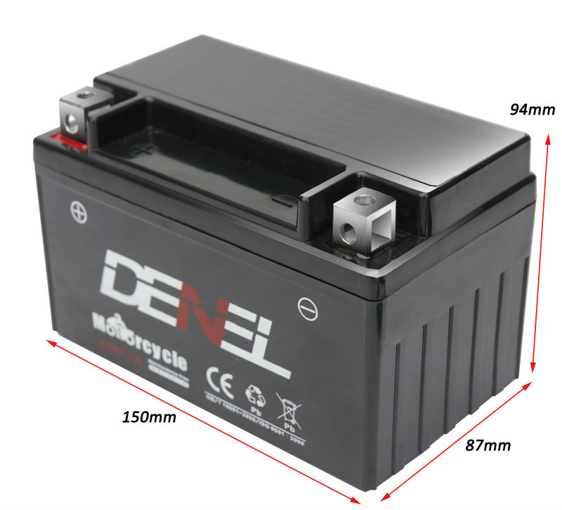 12V 7Ah smf motorcycle battery/motor parts 12n7-bs