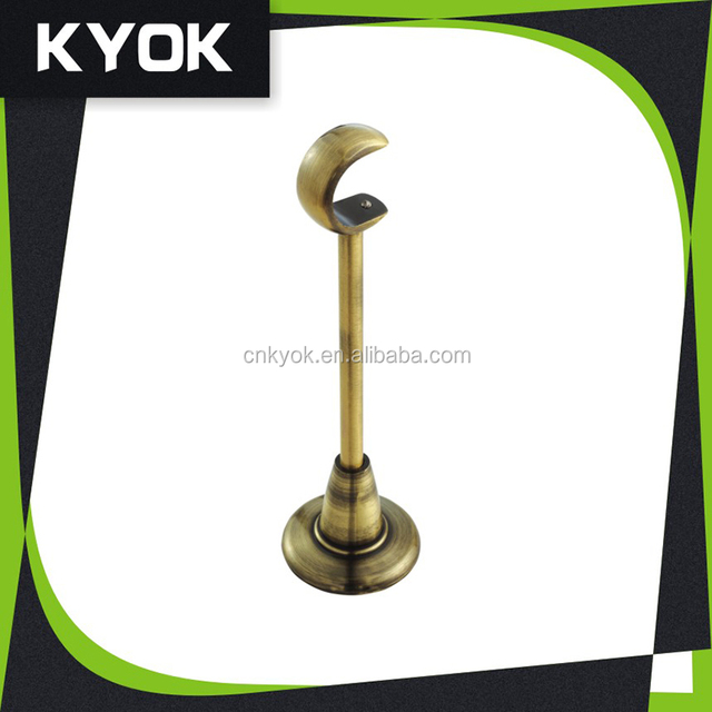 Curtain Pole Holder Round Base, Single Adjustable Curtain Rod Bracket ,  Competitive Price Iron/