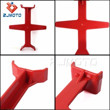 Red Plastic Tie Down Keep Pressure Fits All Bike 80cc And Larger With 11 Inches Or More Of Travel Motorcycle Plastic Fork