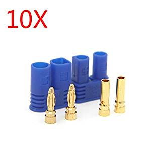 New 10 Pairs Amass EC2 Male Female Bullet Connector Banana Head Plug For RC Lipo Battery By KTOY