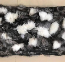 natural mult color fox fur plates for Lining ladies genuine fur parka