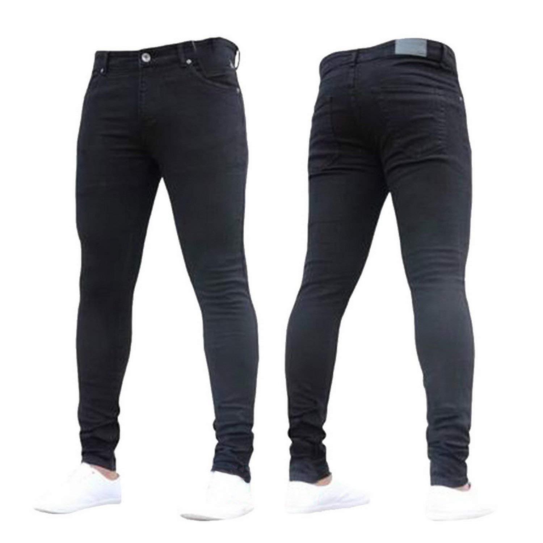 Memoriesed Mens Brand Skinny Jeans Casual Hip hop Trousers 2018 Denim Black Jeans Homme