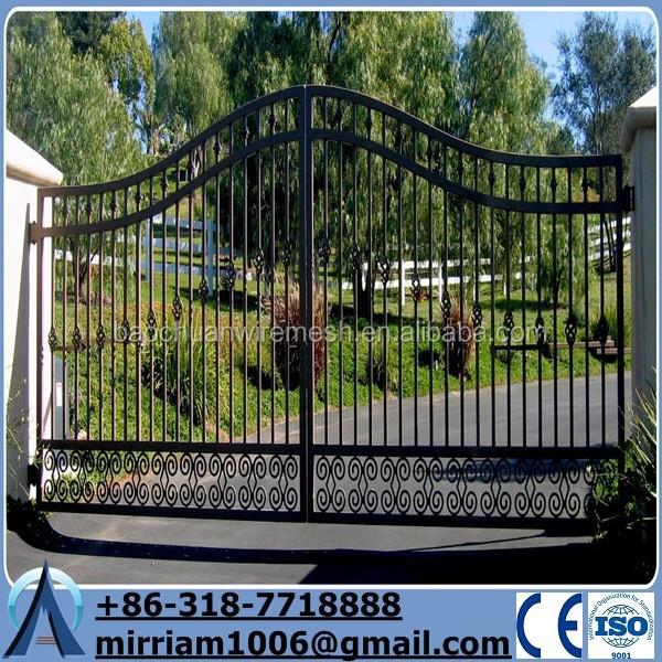 puerta de hierro forjado valla de hierro fundido adornos fabricante
