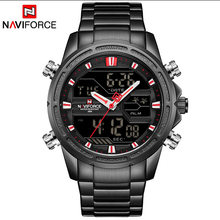 Часы NAVIFORCE мужские, армейские, водонепроницаемые, светодиодный, цифровой, спортивные(Китай)