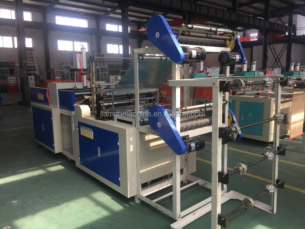 2016 new design Heat-Sealing And Cold-Cutting Double-Layer High-Speed Flat Mouth Vest Bag Making Machine