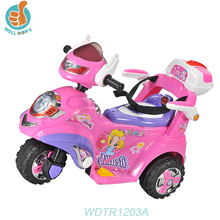 WDTR1203A Battery Cheap Kids Mini Electric Motorcycle/ Ride On Motorbike Huada Car Toy