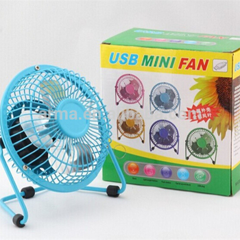 Portable cooling 4inch usb metal desk fan with powerful wind