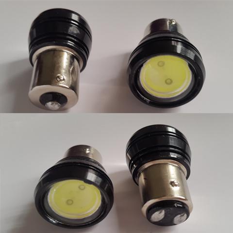 Бесплатная доставка 23 мм супер яркий ястреб глаз лампа 12 В обновление стоп-сигналы обратно света 100% водонепроницаемый 1157 тормозные огни AAA