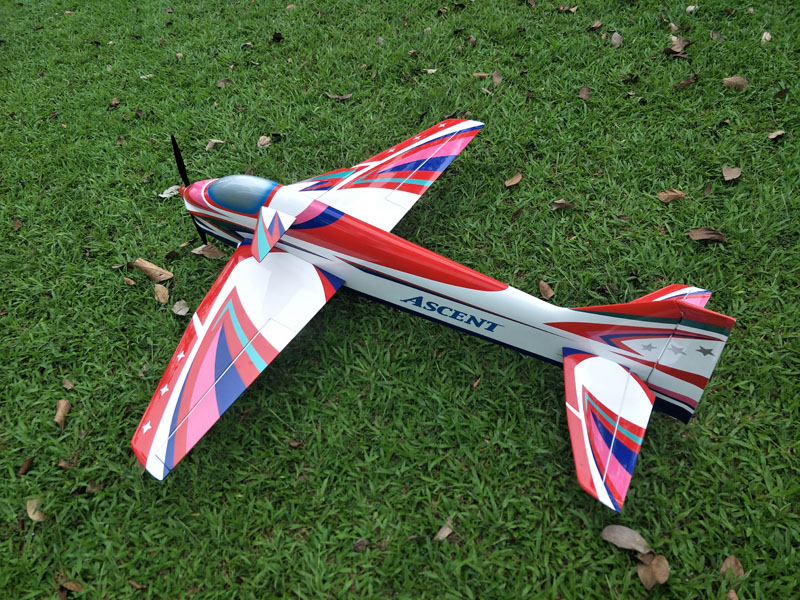 electric/gas balsa wood wing and composite material fuselage ASCENT 120 F3A models