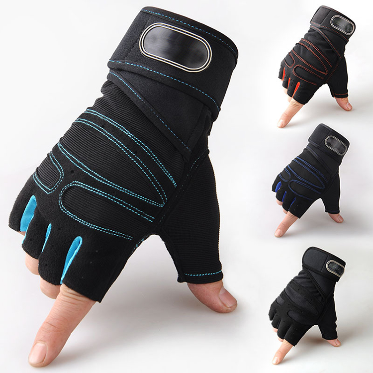 Custom Elastic Wrist Wraps fitness gloves weight lifting, Red yellow blue black pink or customized