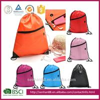 wholesale fabric small mesh waterproof cotton cheap canvas polyester nylon drawstring gym shoe bags