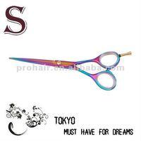 Rainbow Titanium Coated hair scissors from sunsara