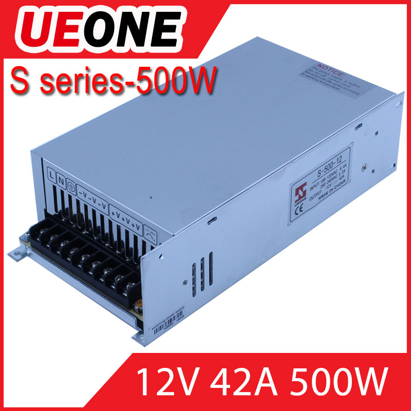 hot selling 12v 500w single output swith power supply s-500-12