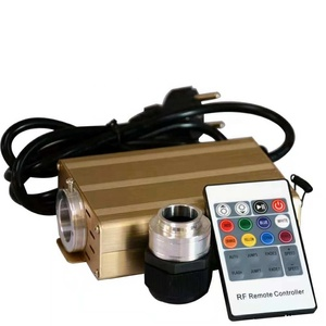 Gold shell fiber optic lighting engine 16w RGB LED light source
