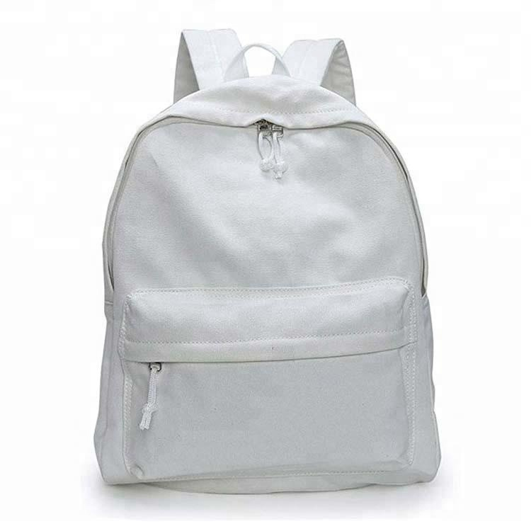 custom plain cotton Backpack,blank canvas backpack,plain backpack wholesale