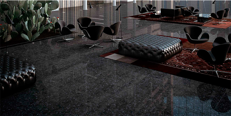 Black glossy 600*600MM and 800*800MM double Loading polished porcelain ceramic floor tile balcony porcellanato