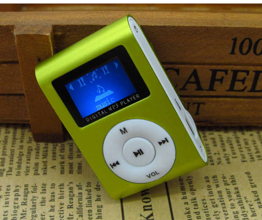 Mini USB Clip Digital LED Light Flash Screen Support 32GB Micro SD TF Card Digital MP3