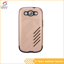 Gold color case TPU and PC two in one shockproof phone cover for samsung galaxy s3 i9300