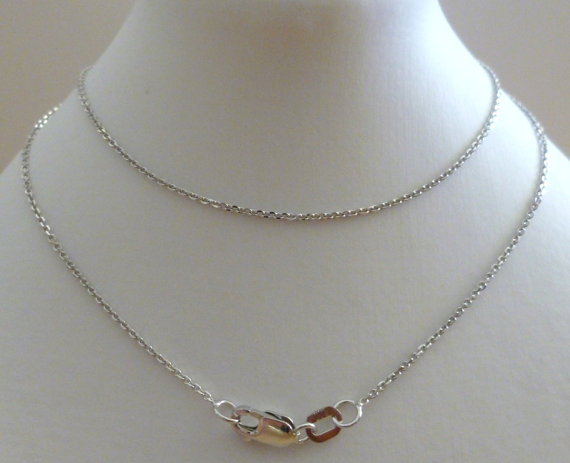 Silver Belcher Fine Chain Necklace