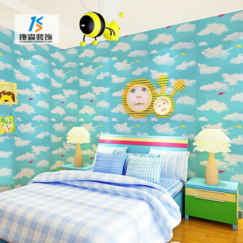Top Brands Latest Designs Paintable Yellow Wall Fashion Wallpaper Decor For Kids