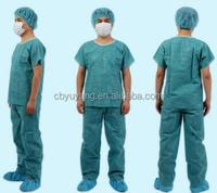 medical disposable scrub suit patient gown