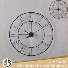 Creative Black Vintage Metal Wall Clock With open Face