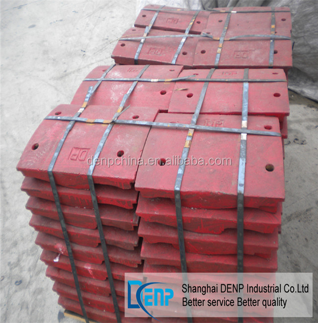 high quality liner plate for shanbao stone crusher used to stone production line in hot sale