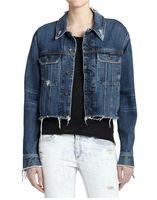Female Custom Design Autumn Winter Plain Denim Short Jacket Coat Women 2016 denim jacket for women