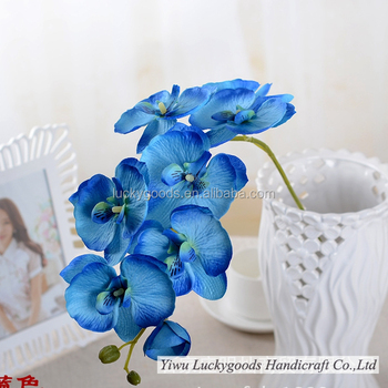 Lf440 70 Cm Falso Artificial Orquideas Azules Flores En Diferentes