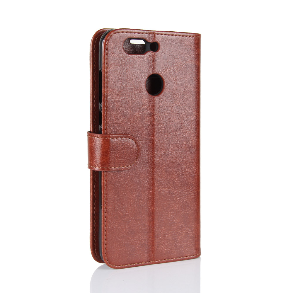 Wholesale Custom Wallet Magnetic case for For huawei nova2 plus Buckle Genuine Leather Phone Case For huawei nova 2 plus, Various colors available