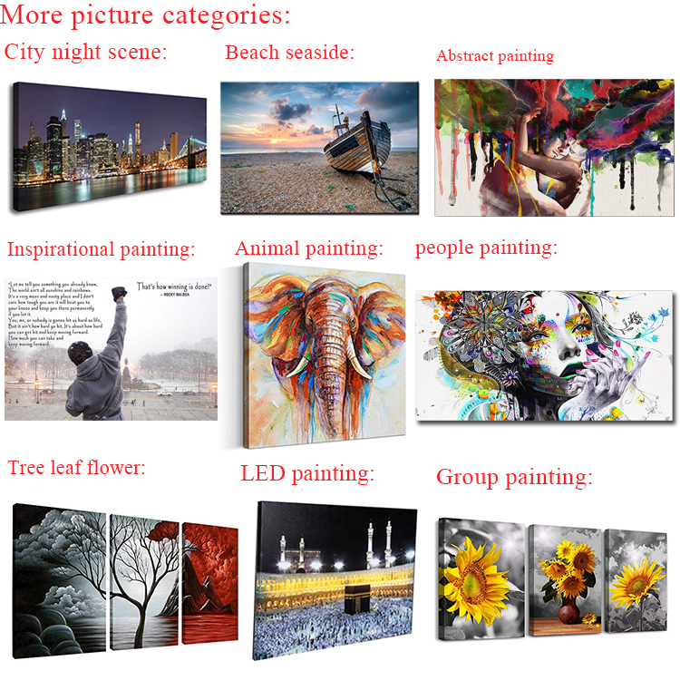 Wholesale micro-spray art flower pot potted Wall Art Decor Canvas Poster Painting Set