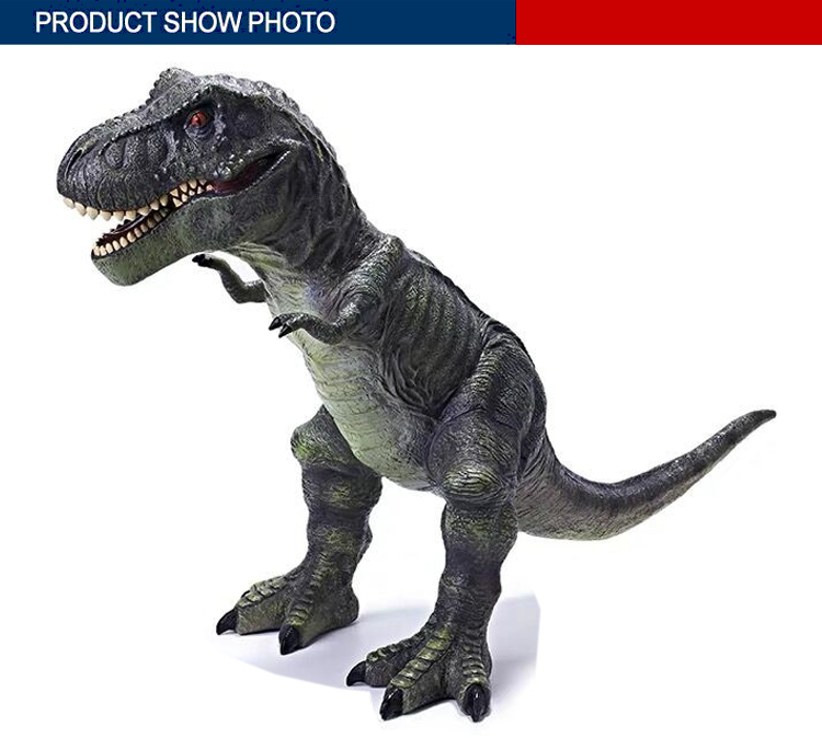artificial model playing vinyl material dinosaur toys animal with IC