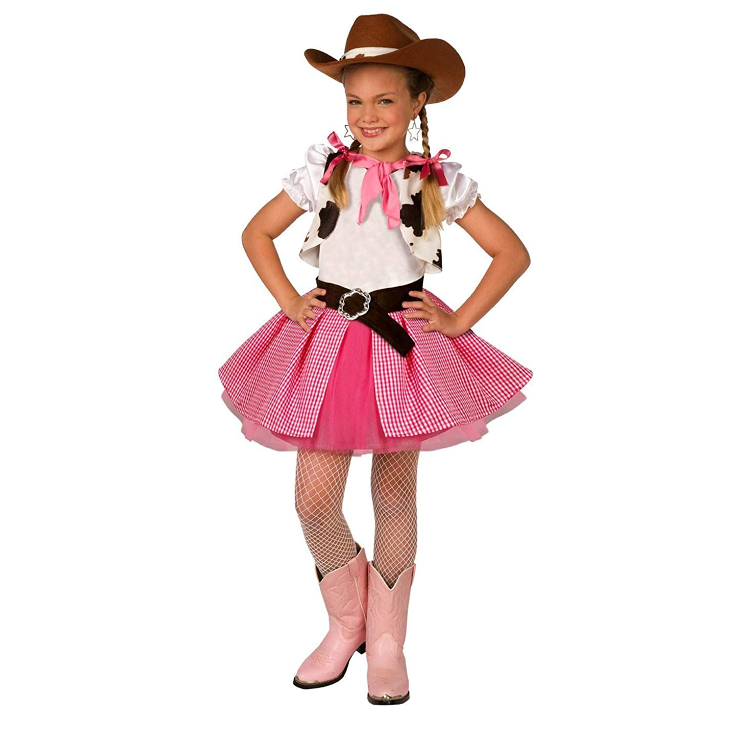 bd62640fd42c Get Quotations · Morph Girls Cowgirl Costume Cute Kids Pink Western Dress  Quality Outfit for Children