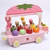Pretend Play Toy Simulation Magnetic Ice Cream Colourful Kitchen wooden ice cream toy