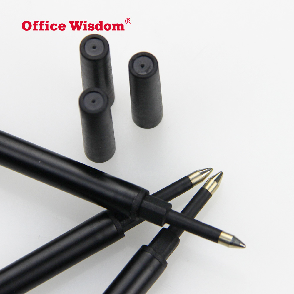 Office Wisdom Ballpoint Pen Refills Replaceable Smooth Writing Ballpoint Refill, Black and Blue